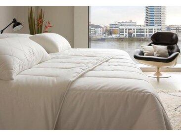 Kunstfaserbettdecke, Famous, Centa-Star, Bezug: 100% Baumwolle weiß, 135x200 cm, Basic weiß Allergiker Bettdecke Bettdecken Bettdecken, Kopfkissen Unterbetten