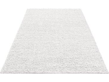 Home affaire Hochflor-Teppich Shaggy 30, rechteckig, 30 mm Höhe, gewebt, Wohnzimmer B/L: 280 cm x 390 cm, 1 St. weiß Esszimmerteppiche Teppiche nach Räumen