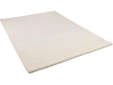 THEKO Wollteppich Maloronga Uni, rechteckig, 24 mm Höhe, echter Berber, reine Wolle, Wohnzimmer B/L: 140 cm x 200 cm, 1 St. weiß Esszimmerteppiche Teppiche nach Räumen