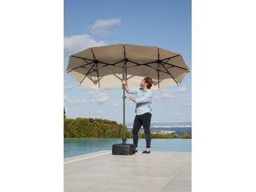 garten gut Sonnenschirm Malaga, Inkl. Schutzhülle, ohne Schirmständer Einheitsgröße beige Sonnenschirme -segel Gartenmöbel Gartendeko