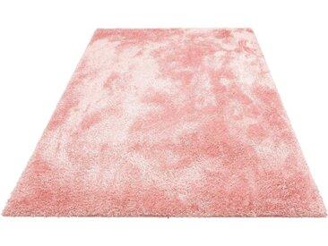 Home affaire Hochflor-Teppich Malin, rechteckig, 43 mm Höhe, Shaggy, Uni Farben, leicht glänzend, besonders weich durch Microfaser, Wohnzimmer B/L: 200 cm x 300 cm, 1 St. rosa Esszimmerteppiche Teppiche nach Räumen