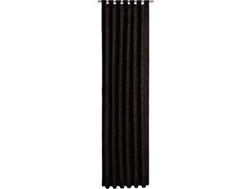 Vorhang, Trondheim 328 g/m², Wirth, Schlaufen 1 Stück 16, H/B: 255/270 cm, blickdicht / energiesparend, schwarz Blickdichte Vorhänge Gardinen Gardine
