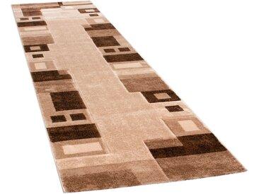 Paco Home Läufer Florenz 8529, rechteckig, 16 mm Höhe, Teppich-Läufer, gewebt, Designer Teppich mit Konturenschnitt B/L: 80 cm x 300 cm, 1 St. braun Teppichläufer Teppiche und Diele Flur