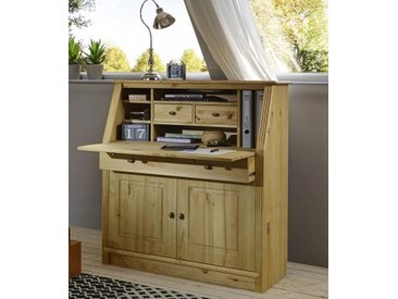 Home affaire Sekretär Soeren, aus massiver Kiefer B/H/T: 100 cm x 110 47 braun Büromöbel Nachhaltige Möbel