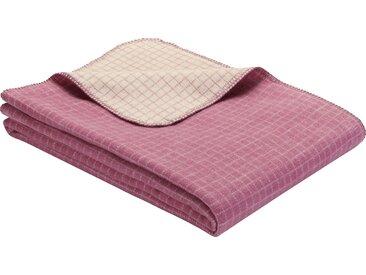 IBENA Wohndecke Manhattan, im schicken Karo-Design B/L: 140 cm x 200 rosa Baumwolldecken Decken