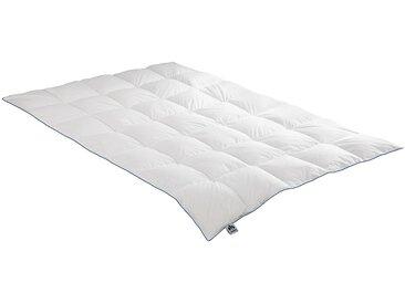 Gänsedaunenbettdecke, Luna, Irisette, Füllung: 100% Gänsedaunen, Bezug: Baumwolle weiß, 155x220 cm weiß Daunendecke Bettdecken Bettdecken, Kopfkissen Unterbetten Bettdecke