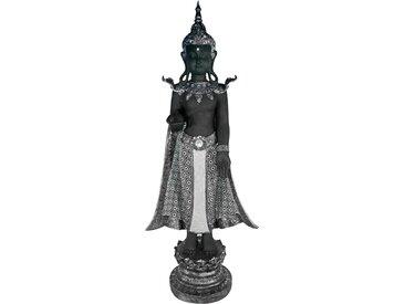 Casa Collection by Jänig Buddhafigur, stehend, schwarz-silber, Höhe 119 cm, Breite 44 cm Einheitsgröße silberfarben Deko, Figuren Skulpturen SOFORT LIEFERBARE Wohnaccessoires Buddhafigur