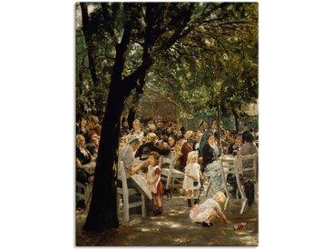 Artland Wandbild Münchner Biergarten. 1883/84 90x120 cm, Leinwandbild grün Leinwandbilder Bilder Bilderrahmen Wohnaccessoires