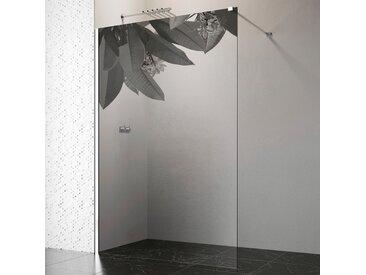 welltime by GEO Walk-in-Dusche, 120 cm, chrom Einheitsgröße silberfarben Duschwände Duschen Bad Sanitär