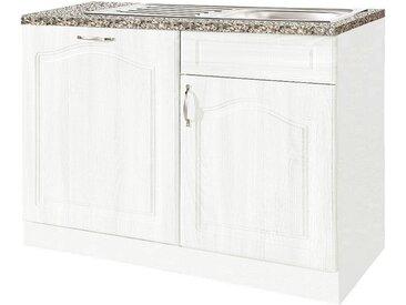 wiho Küchen Spülenschrank 110 x 85 60 (B H T) cm, 2-türig weiß Spülenschränke Küchenschränke Küchenmöbel Schränke