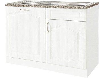 wiho Küchen Spülenschrank, 110 cm breit, inkl. Tür für Geschirrspüler B/H/T: x 85 60 cm, 2 weiß Spülenschränke Küchenschränke Küchenmöbel Spülenschrank