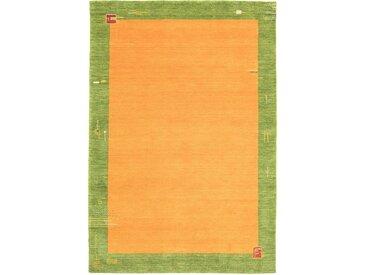 morgenland Wollteppich GABBEH BAROSSA, rechteckig, 18 mm Höhe, reine Schurwolle Bordüre, Wohnzimmer B/L: 170 cm x 240 cm, 1 St. orange Esszimmerteppiche Teppiche nach Räumen