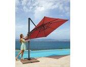 garten gut Sonnenschirm Big Roma, ohne Schirmständer, neigbar 300x300 cm rot Sonnenschirme -segel Gartenmöbel Gartendeko
