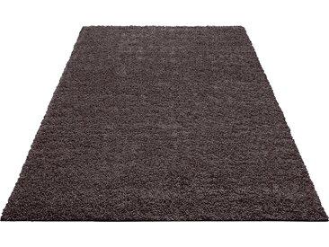 Home affaire Hochflor-Teppich Shaggy 30, rechteckig, 30 mm Höhe, gewebt, Wohnzimmer B/L: 280 cm x 390 cm, 1 St. grau Esszimmerteppiche Teppiche nach Räumen