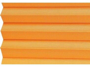 sunlines Dachfensterplissee nach Maß Medoc, Lichtschutz, mit Bohren, verspannt einseitig verschiebbar orange Sonnenschutz-Plissees Plissees Rollos Jalousien