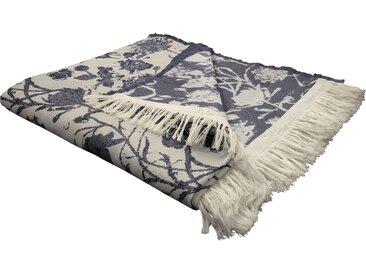 Wohndecke Flower Cuvée, Adam 145x190 cm, Baumwolle blau Baumwolldecken Decken Wohndecken