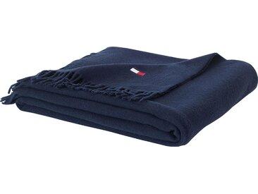 Plaid Woolsoft, TOMMY HILFIGER 130x170 cm, Wolle blau Wolldecken Decken Wohndecken