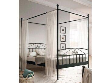 Home affaire Metallbett Birgit, mit einem schönen Betthimmel, aus Metallgestell Liegefläche B/L: 180 cm x 200 Betthöhe: 38 cm, kein Härtegrad, ohne Matratze schwarz Doppelbetten Betten