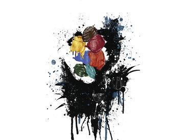 queence Leinwandbild Kunstwerk 80x120 cm bunt Leinwandbilder Bilder Bilderrahmen Wohnaccessoires