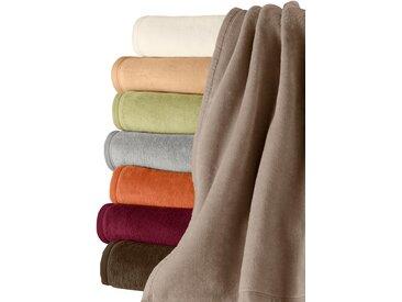 Wohndecke, Biederlack 3 = 100x150 cm braun Baumwolldecken Decken