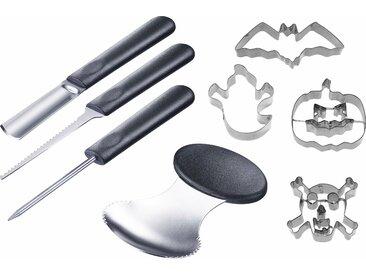 WESTMARK Ausstechform Kürbis-Set, Edelstahl Kunststoff (Set, 8-tlg.) Einheitsgröße silberfarben Kochen Backen Haushalt