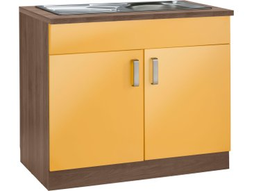 wiho Küchen Spülenschrank Tacoma 100 x 85 60 (B H T) cm, 2-türig orange Spülenschränke Küchenschränke Küchenmöbel Schränke