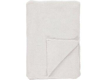 Marc O'Polo Home Plaid Nordic Knit, Strickoptik B/L: 130 cm x 170 weiß Baumwolldecken Decken