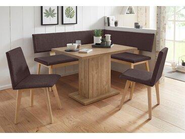 Home affaire Eckbankgruppe Zelle, (Set, 4 tlg.) langer Schenkel links braun Sitzbänke Nachhaltige Möbel
