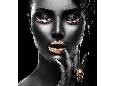 Leonique Acrylglasbild Gesicht B/H/T: 120 cm x 2,4 goldfarben Acrylglasbilder Bilder Bilderrahmen Wohnaccessoires