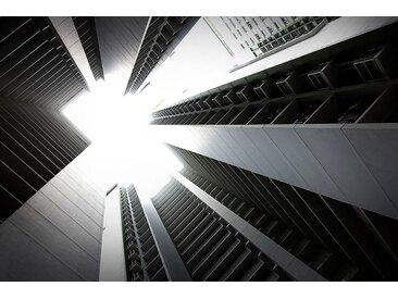 Places of Style Acrylglasbild Wohngebäude 150x100 cm, schwarz Acrylglasbilder Bilder Bilderrahmen Wohnaccessoires