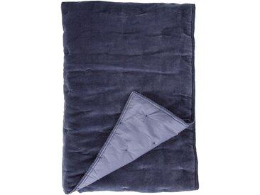 Plaid Velvet Touch, Walra 130x180 cm, Baumwolle-Polyester blau Baumwolldecken Decken Wohndecken
