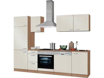 OPTIFIT Küchenzeile Odense, ohne E-Geräte, Breite 270 cm, mit 28 mm starker Arbeitsplatte, Gratis Besteckeinsatz B: cm beige Küchenzeilen Geräte -blöcke Küchenmöbel