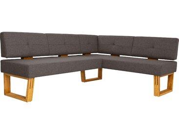 Eckbank Ponza langer Schenkel links braun Eckbänke Sitzbänke Stühle