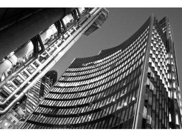 Places of Style Acrylglasbild Hochhäuser 150x100 cm, schwarz Acrylglasbilder Bilder Bilderrahmen Wohnaccessoires
