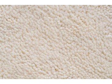Theko Exklusiv Wollteppich Agadir 1, rund, 25 mm Höhe, echter Berber, reine Wolle, handgeknüpft, Wohnzimmer (Ø 150 cm), weiß Schlafzimmerteppiche Teppiche nach Räumen