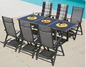 MERXX Gartenmöbelset Amalfi, (7 tlg.), 6 Stühle mit Tisch Einheitsgröße braun Gartenmöbel Gartenparty Aktionen Themen