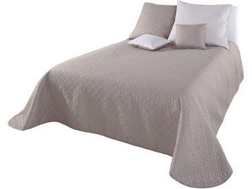 Tagesdecke Wendemodell mit Prägedruck 4, ca. 240/250 cm grau Tagesdecken Decken