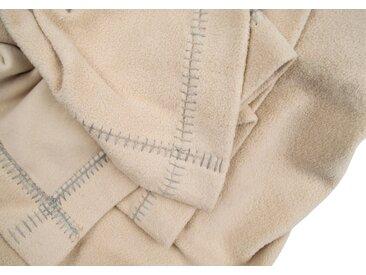 Wohndecke Soft-Greeny, zoeppritz 140x190 cm, Baumwolle-Polyester beige Baumwolldecken Decken Wohndecken