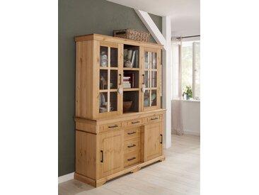 Home affaire Vitrine Anabel 156 x 190 45 (B H T) cm, 4-türig, Komplettausführung beige Anrichten Buffets Küchenmöbel Nachhaltige Möbel Schränke