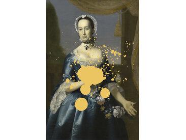 queence Acrylglasbild Frau 100x150 cm gelb Acrylglasbilder Bilder Bilderrahmen Wohnaccessoires