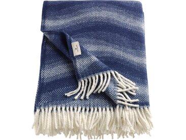 TOM TAILOR Wohndecke Waves, mit gedrehten Fransen B/L: 140 cm x 200 blau Baumwolldecken Decken