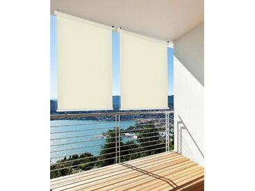 hecht international Senkrechtmarkise, LxB: 230x100 cm 100 cm, 230 beige Markisen Garten Balkon Senkrechtmarkise