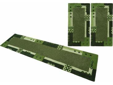 Bettumrandung Florida3193 THEKO, Höhe 14 mm (3-tlg.) (2x Brücke 140x70 cm & 1x Läufer 340x70 cm), grün Bettumrandungen Teppiche