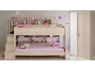 Parisot Jugendzimmer-Set Bibop, (Set, 2 tlg.) Ohne Bettschubkasten braun Kinder Komplett-Jugendzimmer Jugendmöbel Kindermöbel Schlafzimmermöbel-Sets
