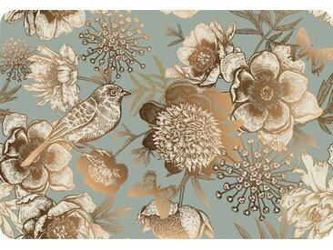 Platzset, PS0103, queence (Set, 4-tlg.) 33x48 cm rechteckig, Vinyl grau Platzsets Tischwäsche Tischdecken