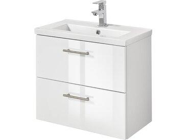 welltime Waschtisch Trento, Breite 60 cm, Tiefe 36 SlimLine Badmöbel 61 cm x 54 weiß Waschtische