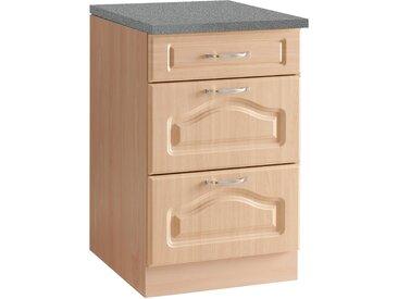 wiho Küchen Unterschrank Linz 50 x 85 60 (B H T) cm beige Unterschränke Küchenschränke Küchenmöbel Schränke