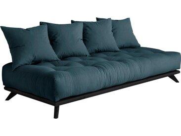 Karup Design Daybett Senza Daybed, mit Holzstruktur Baumwollmix, Liegefläche B/L: 90 cm x 200 Betthöhe: 85 cm, kein Härtegrad, Futonmatratze blau Einzelbetten Betten