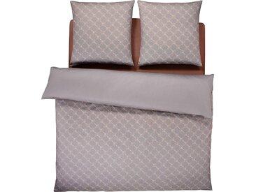 Wendebettwäsche Cornflower Gradiant, Joop 1x 200x220 cm, 2x 80x80 Mako-Satin beige Bettwäsche 135x200 cm nach Größe Bettwäsche, Bettlaken und Betttücher