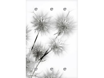queence Garderobe Pusteblume 80x5x120 cm weiß Garderobenpaneele Garderoben